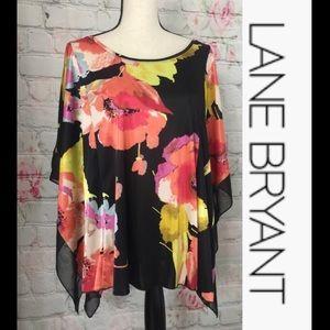 Lane Bryant Bright Floral Kimono Flowy Top🎉 18/20